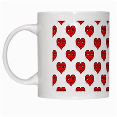 Emoji Heart Character Drawing  White Mugs