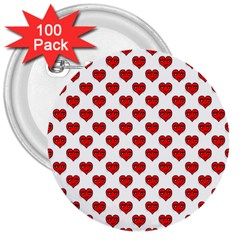 Emoji Heart Character Drawing  3  Buttons (100 pack)