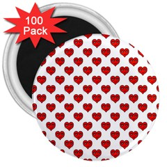 Emoji Heart Character Drawing  3  Magnets (100 pack)