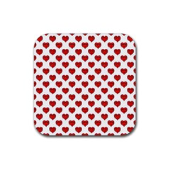 Emoji Heart Character Drawing  Rubber Square Coaster (4 pack)