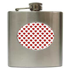 Emoji Heart Character Drawing  Hip Flask (6 oz)