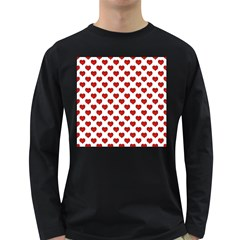 Emoji Heart Character Drawing  Long Sleeve Dark T Shirts