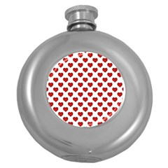 Emoji Heart Character Drawing  Round Hip Flask (5 oz)