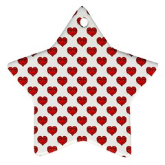 Emoji Heart Character Drawing  Star Ornament (Two Sides)