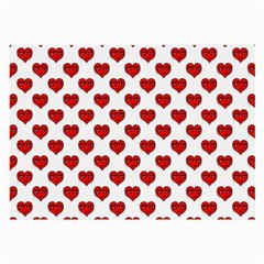 Emoji Heart Character Drawing  Large Glasses Cloth (2-Side)