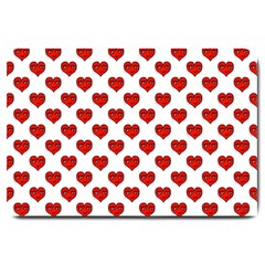 Emoji Heart Character Drawing  Large Doormat