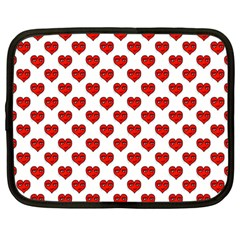 Emoji Heart Character Drawing  Netbook Case (Large)