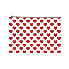 Emoji Heart Character Drawing  Cosmetic Bag (Large)