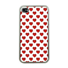 Emoji Heart Character Drawing  Apple iPhone 4 Case (Clear)