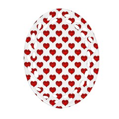Emoji Heart Character Drawing  Oval Filigree Ornament (Two Sides)