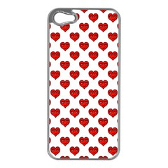 Emoji Heart Character Drawing  Apple iPhone 5 Case (Silver)