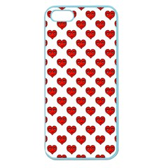 Emoji Heart Character Drawing  Apple Seamless iPhone 5 Case (Color)