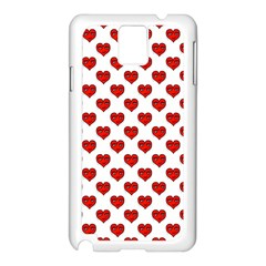 Emoji Heart Character Drawing  Samsung Galaxy Note 3 N9005 Case (White)