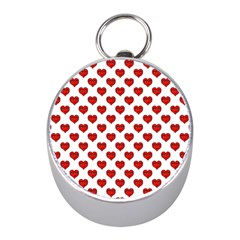 Emoji Heart Character Drawing  Mini Silver Compasses