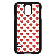Emoji Heart Character Drawing  Samsung Galaxy S5 Case (Black)