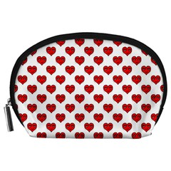 Emoji Heart Character Drawing  Accessory Pouches (Large)