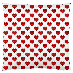 Emoji Heart Character Drawing  Large Flano Cushion Case (One Side)
