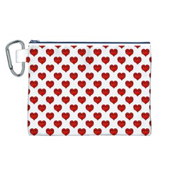 Emoji Heart Character Drawing  Canvas Cosmetic Bag (L)