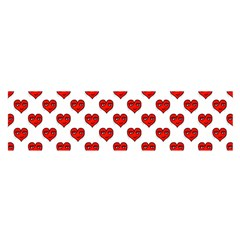 Emoji Heart Character Drawing  Satin Scarf (Oblong)
