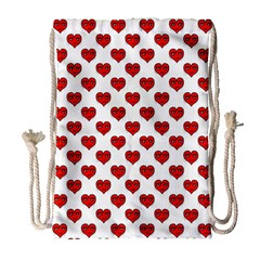 Emoji Heart Character Drawing  Drawstring Bag (Large)
