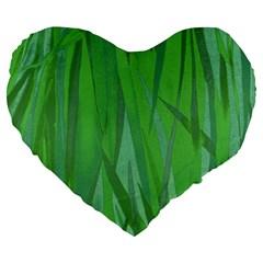 Pattern Large 19  Premium Heart Shape Cushions