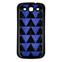 Triangle2 Black Marble & Blue Brushed Metal Samsung Galaxy S3 Back Case (black)