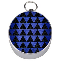 Triangle2 Black Marble & Blue Brushed Metal Silver Compass