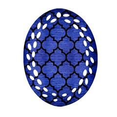 TIL1 BK-MRBL BL-BRSH (R) Oval Filigree Ornament (Two Sides)