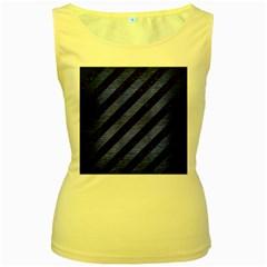 STR3 BK-MRBL BL-BRSH Women s Yellow Tank Top