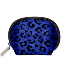 Skin5 Black Marble & Blue Brushed Metal Accessory Pouch (small)