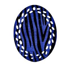 SKN4 BK-MRBL BL-BRSH Oval Filigree Ornament (Two Sides)