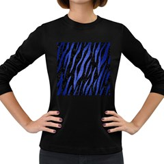SKN3 BK-MRBL BL-BRSH Women s Long Sleeve Dark T-Shirts