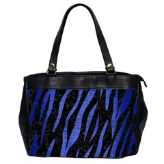 Skin3 Black Marble & Blue Brushed Metal Oversize Office Handbag (2 Sides)