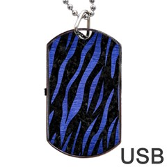 SKN3 BK-MRBL BL-BRSH Dog Tag USB Flash (One Side)