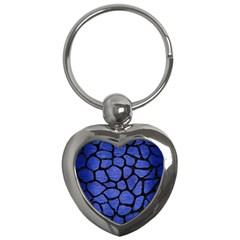 SKN1 BK-MRBL BL-BRSH Key Chains (Heart)