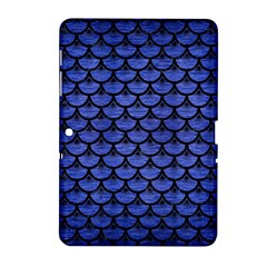 Scales3 Black Marble & Blue Brushed Metal (r) Samsung Galaxy Tab 2 (10 1 ) P5100 Hardshell Case
