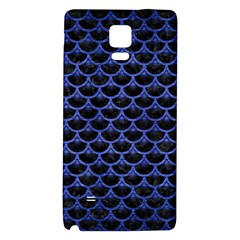 Scales3 Black Marble & Blue Brushed Metal Samsung Note 4 Hardshell Back Case