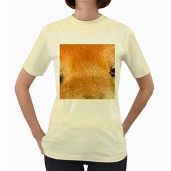 Chow Chow Eyes Women s Yellow T-Shirt