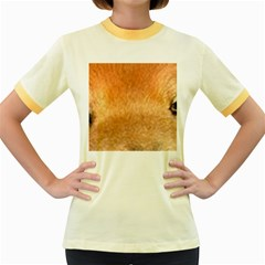 Chow Chow Eyes Women s Fitted Ringer T-Shirts