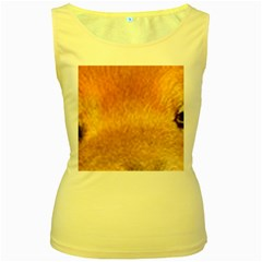 Chow Chow Eyes Women s Yellow Tank Top