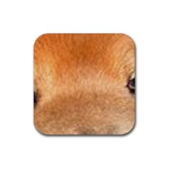 Chow Chow Eyes Rubber Coaster (Square)