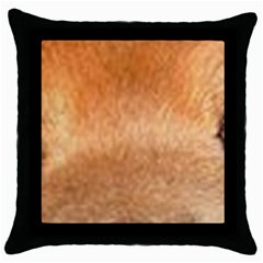 Chow Chow Eyes Throw Pillow Case (Black)