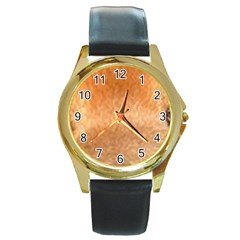 Chow Chow Eyes Round Gold Metal Watch