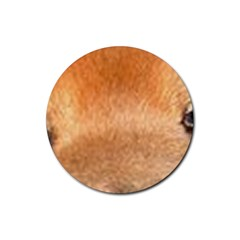 Chow Chow Eyes Rubber Coaster (Round)