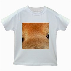 Chow Chow Eyes Kids White T-Shirts