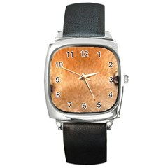 Chow Chow Eyes Square Metal Watch