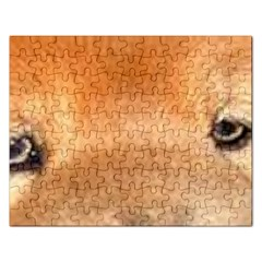 Chow Chow Eyes Rectangular Jigsaw Puzzl