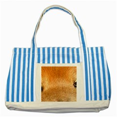 Chow Chow Eyes Striped Blue Tote Bag