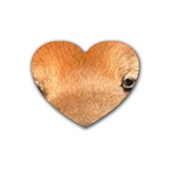Chow Chow Eyes Rubber Coaster (Heart)