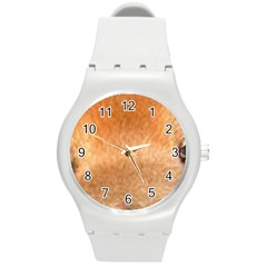 Chow Chow Eyes Round Plastic Sport Watch (M)